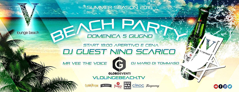 V Lounge Beach Party