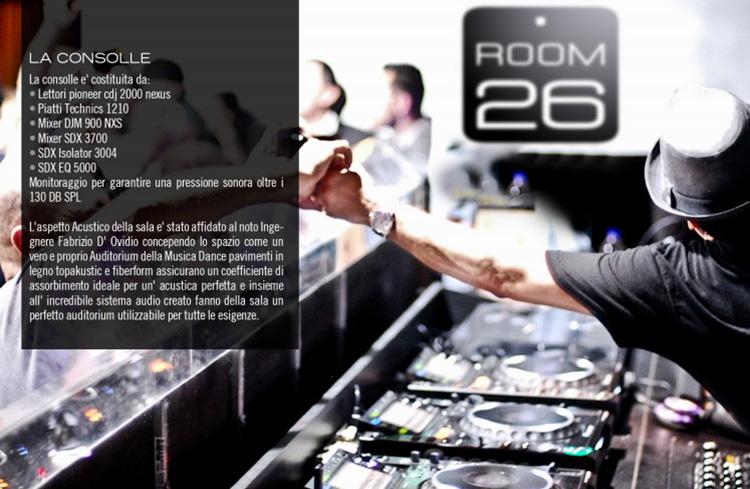 Room 26 Roma Eventi Globo lista Globo