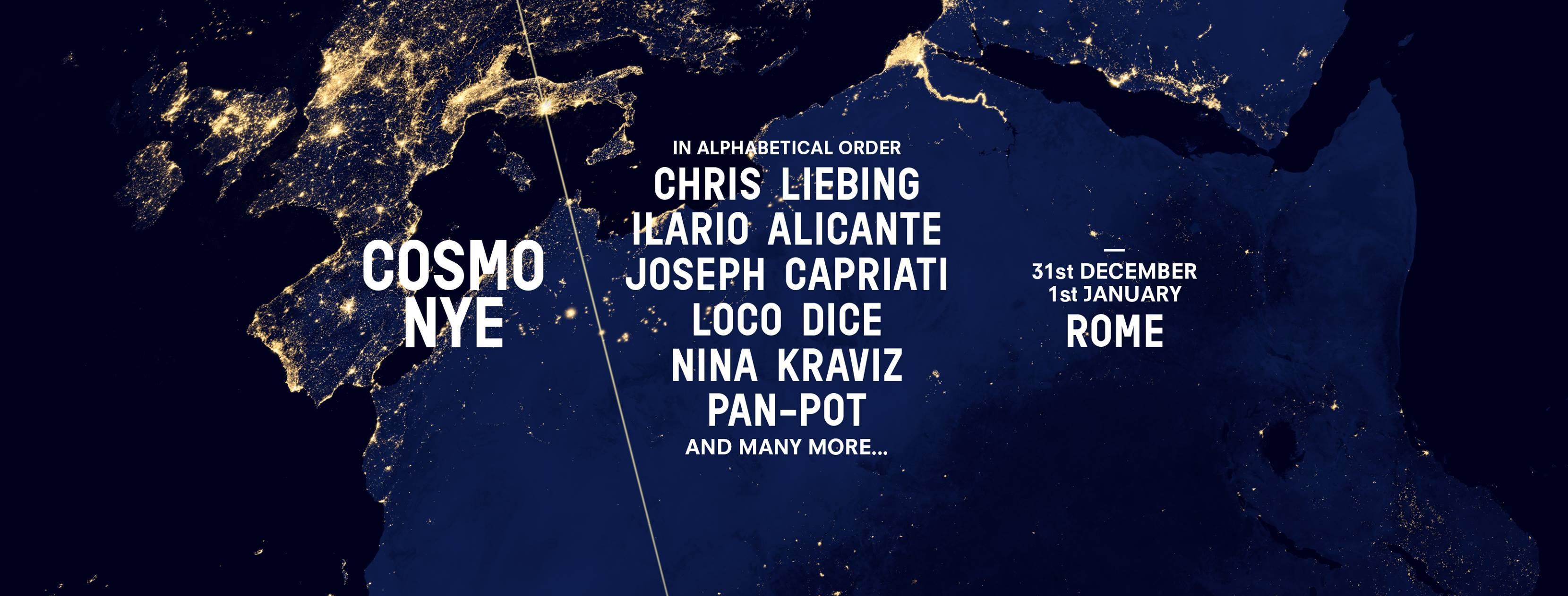 Capodanno Roma COSMO NYE - 1 ticket 4 location