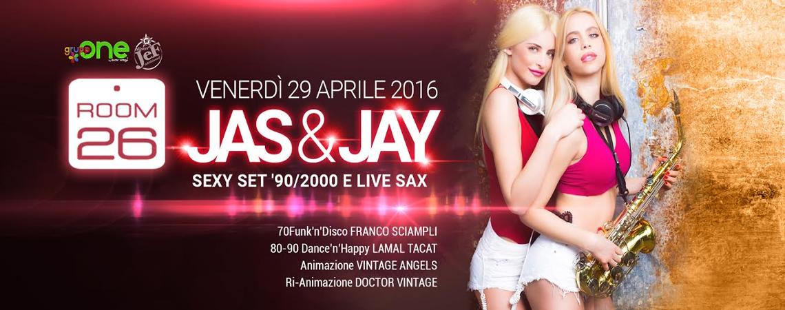 Room 26 Venerdì 29 Aprile 2016 Jas Jay serata Vintage