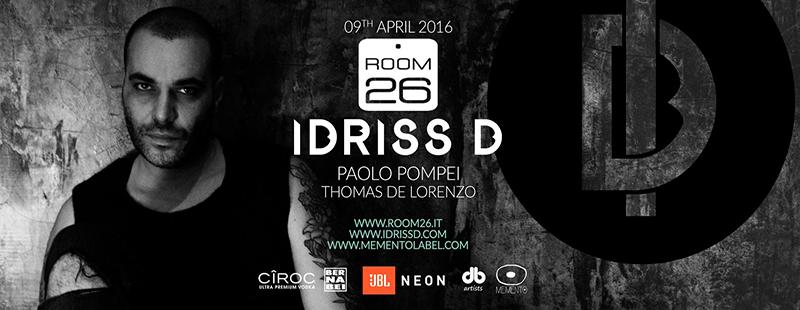 Room 26 sabato 9 Aprile 2016