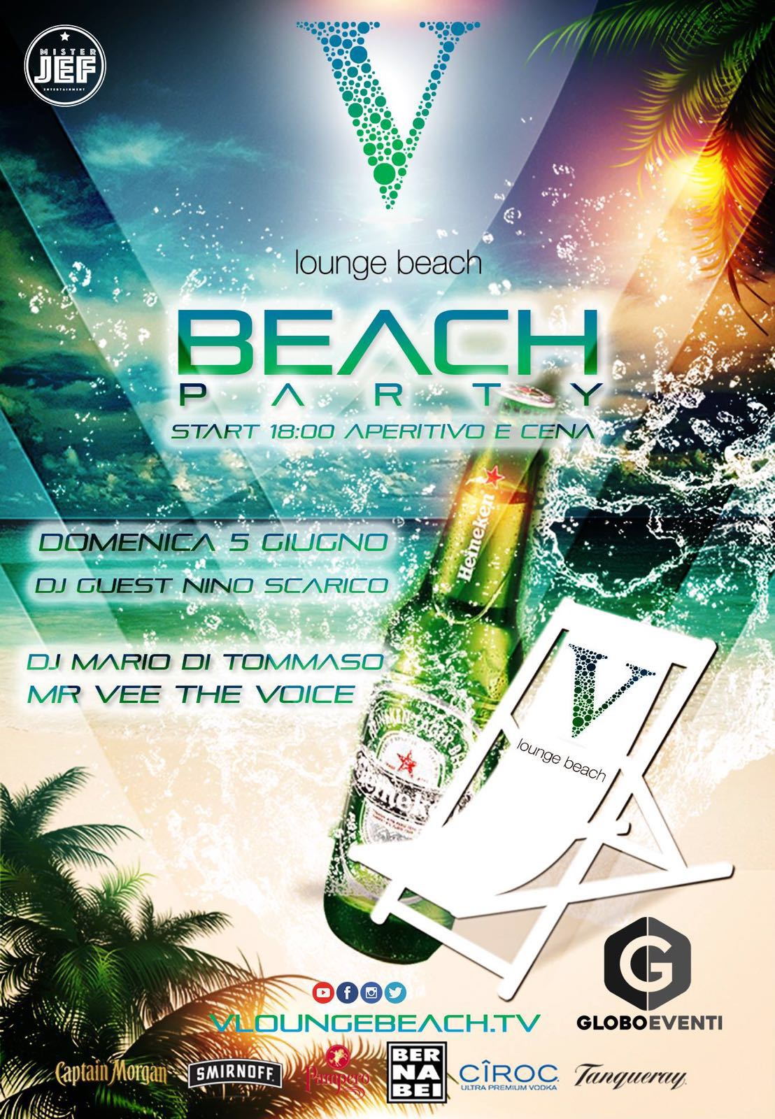 V lounge discoteca ostia beach party 5 giugno 2016 for Di tommaso arredamenti ostia