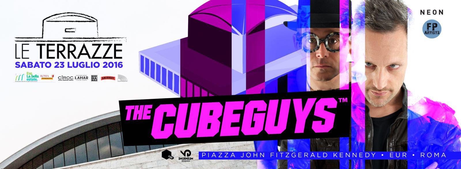 Cubeguys Le Terrazze Roma sabato 23 luglio 2016