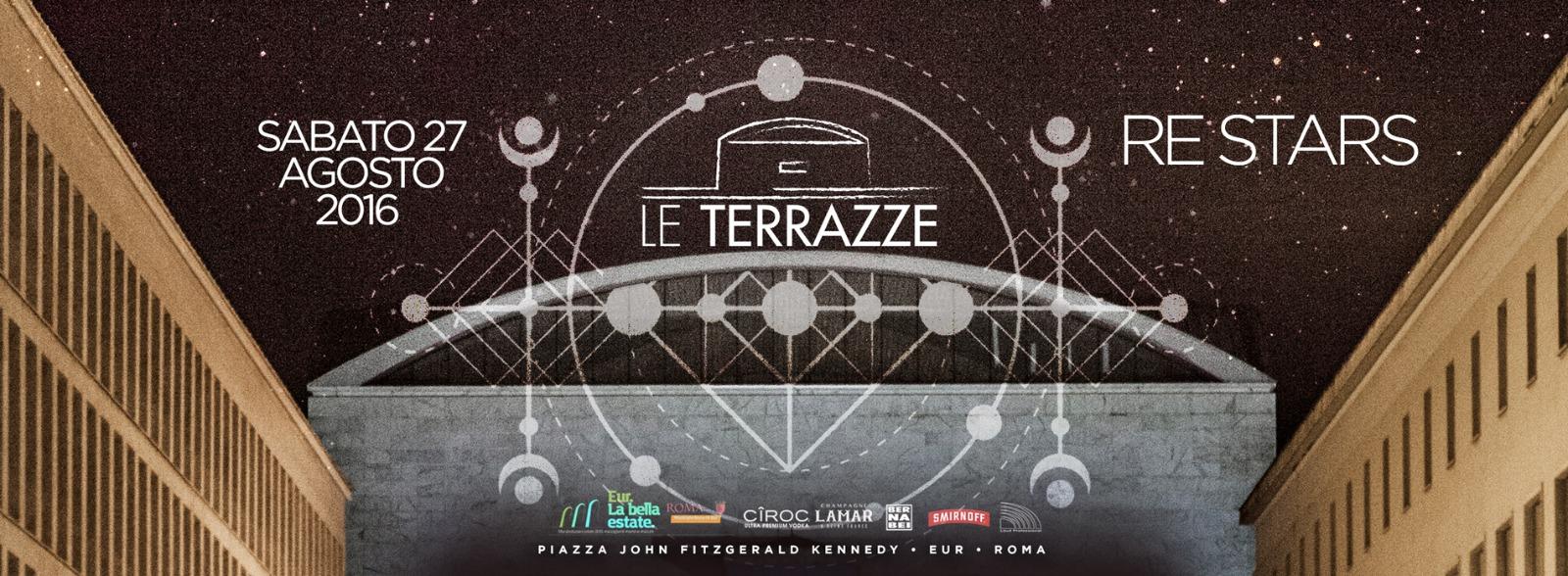 Le Terrazze Discoteca Roma sabato 27 Agosto ReStars Lista Globo