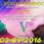 discoteca v lounge beach sabato 3 settmbre 2016 lista globo