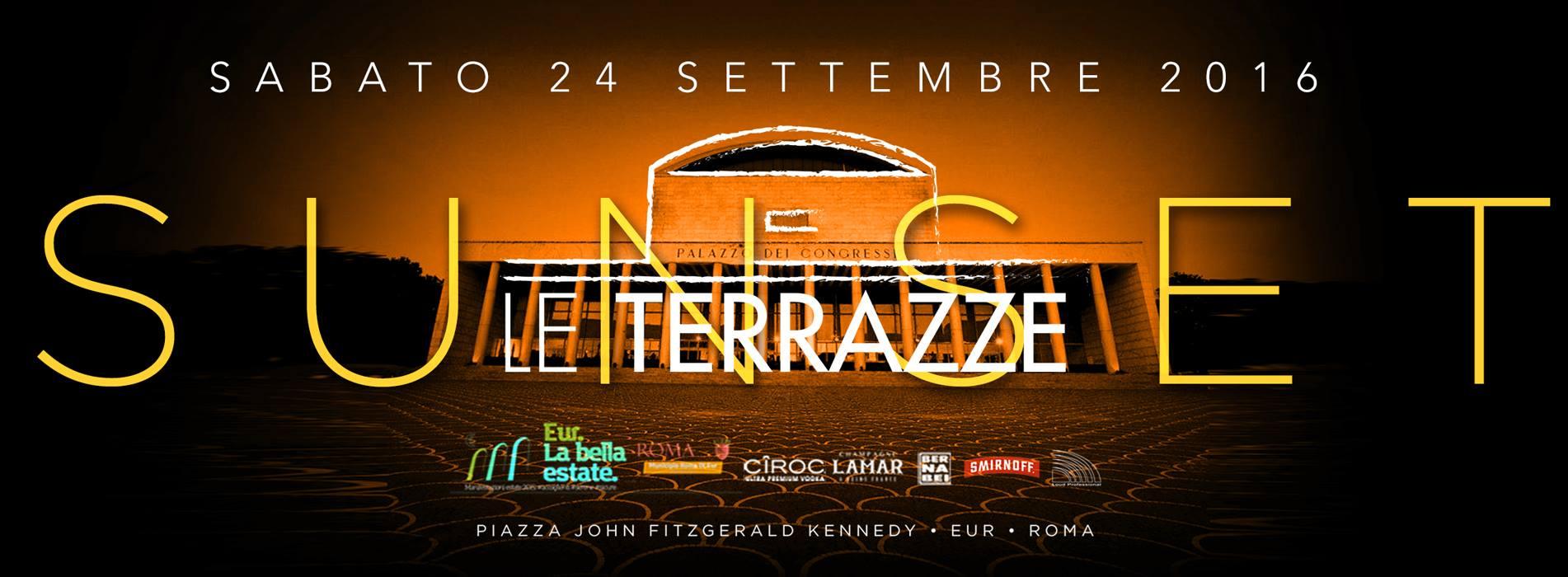 Le Terrazze Discoteca Roma sabato 24 settembre 2016