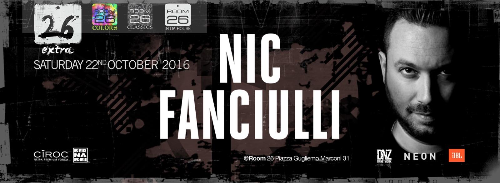 Room 26 Roma Nic Fanciulli sabato 22 10 2016