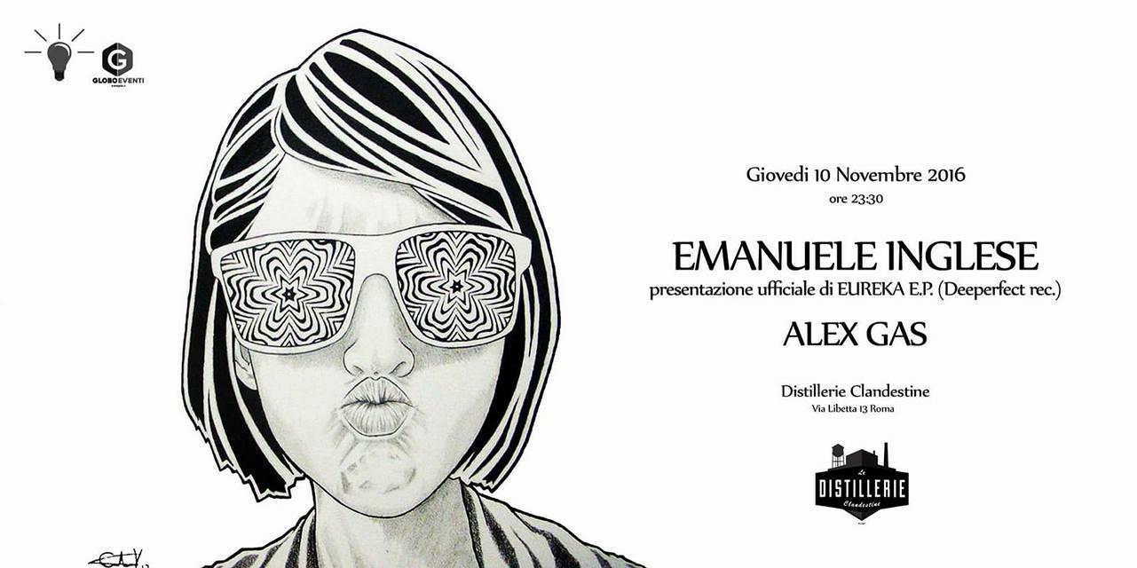 Emanuele Inglese più Alex Gas at Distillerie Clandestine 10.11.2016 free