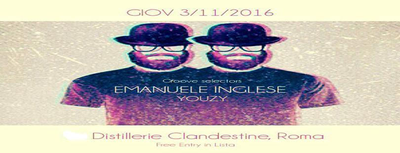 Emanuele Inglese Distillerie Clandestine giov 3 11 free entry