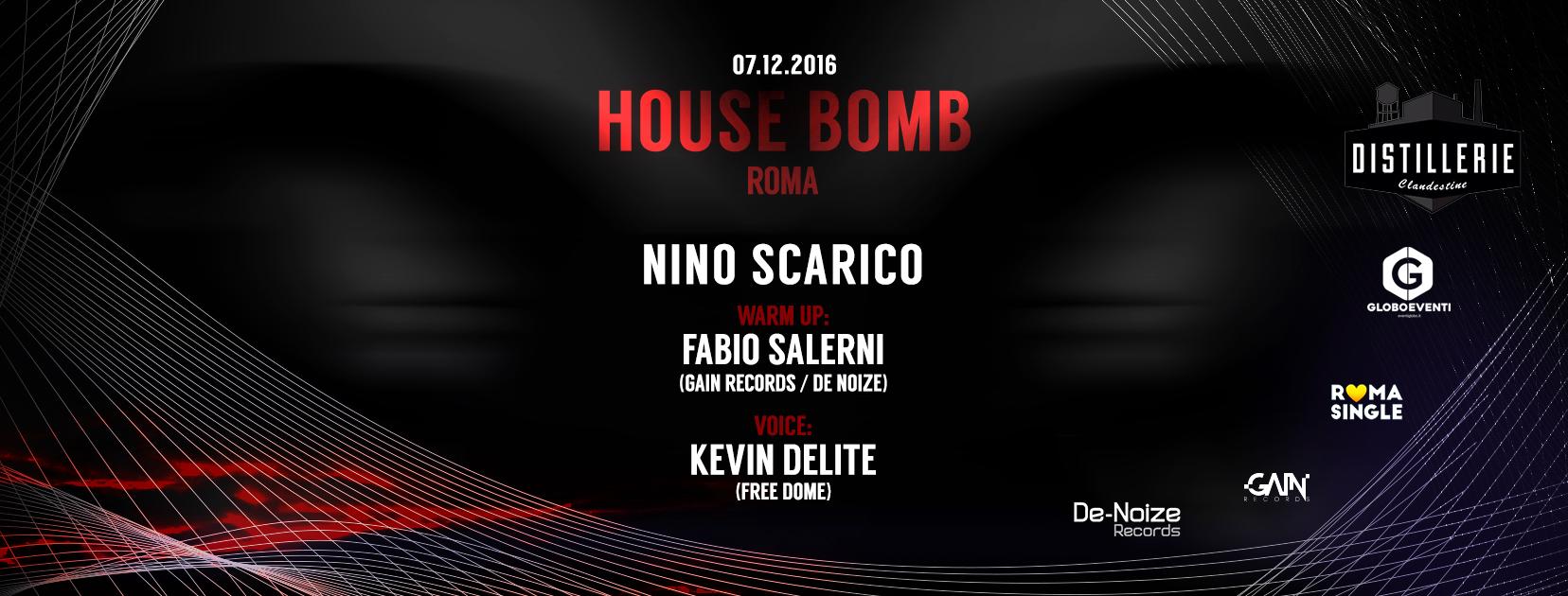 Serata House Roma prefestivo 7 dic. Distillerie Clandestine House Bomb