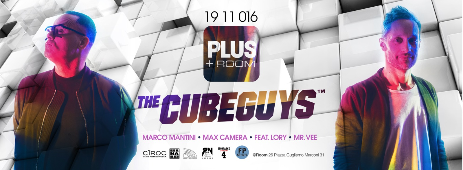 The Cube Guys nella discoteca Room 26 Roma sabato 19 11 2016