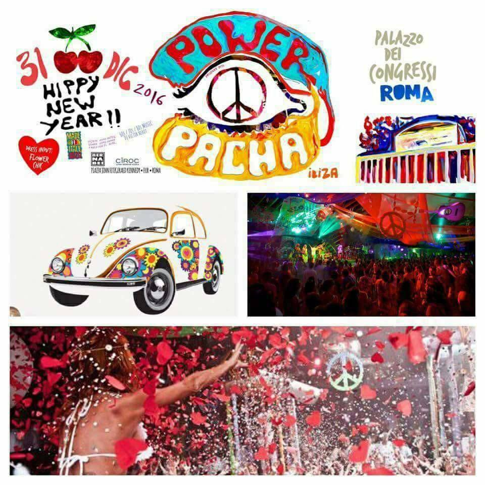 Flower Power Party Pacha Capodanno Roma