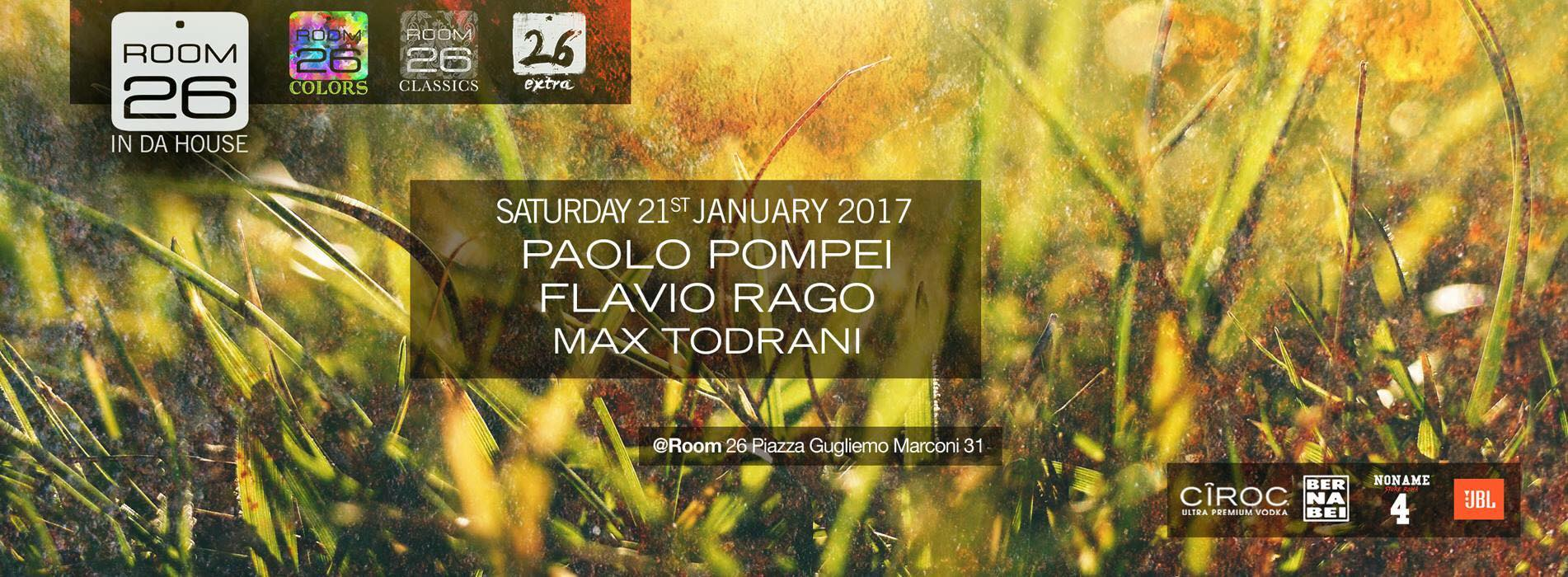 Room 26 sabato 21 gennaio 2017 house e dance lista + privè