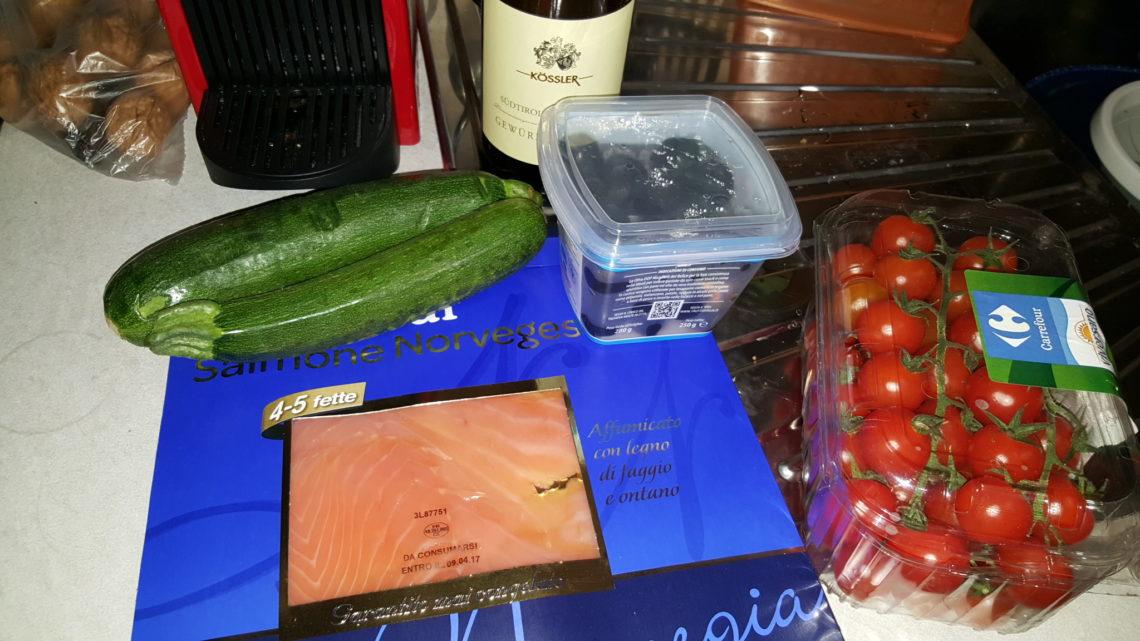 Ricetta per Single: Involtini di salmone ripieni cena pronta in 10 minuti