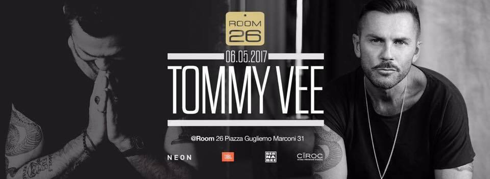Tommy Vee Room 26 sabato 6 maggio 2017