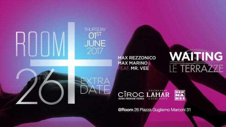Giovedi 1 giugno 2017 Room 26 discoteca Roma 3404987255