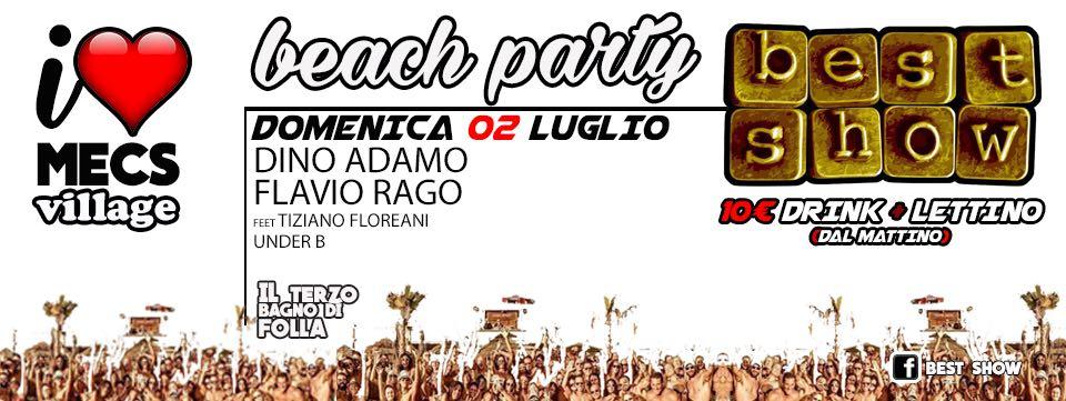 Mecs Village Ostia festa in spiaggia domenica 2 luglio 2017