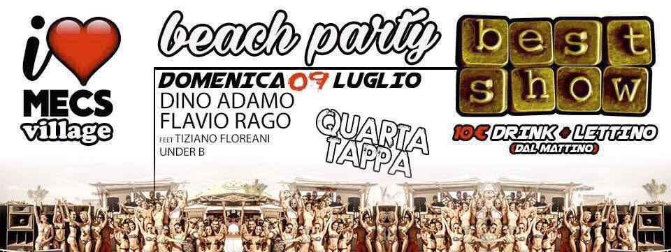Best Show beach party Mecs Village Ostia domenica 9 luglio