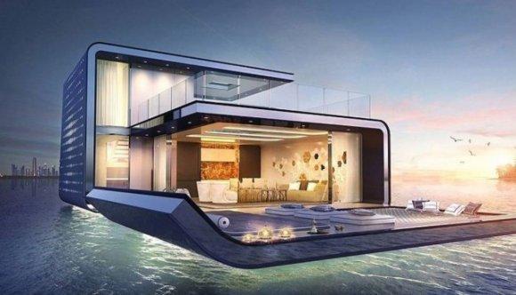 Ville galleggianti a Dubai con giardino di barriera corallina