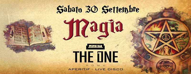 The One Roma discoteca live aperitif sabato 30 settembre 2017