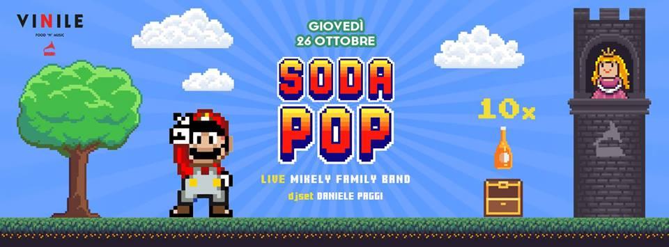 Aperitivo Vinile Roma giovedi 26 ottobre 2017 Soda Pop prenota on line