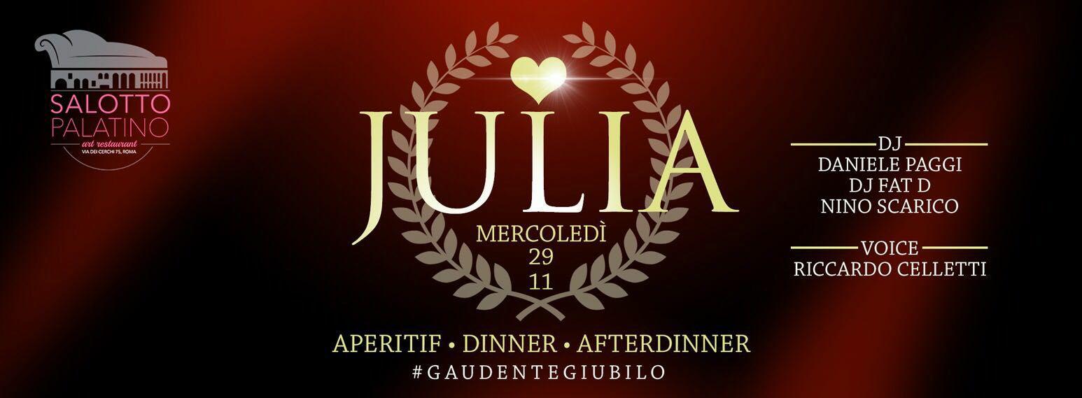 Salotto Palatino Roma aperitivo cena disco mercoledi 06 12 2017