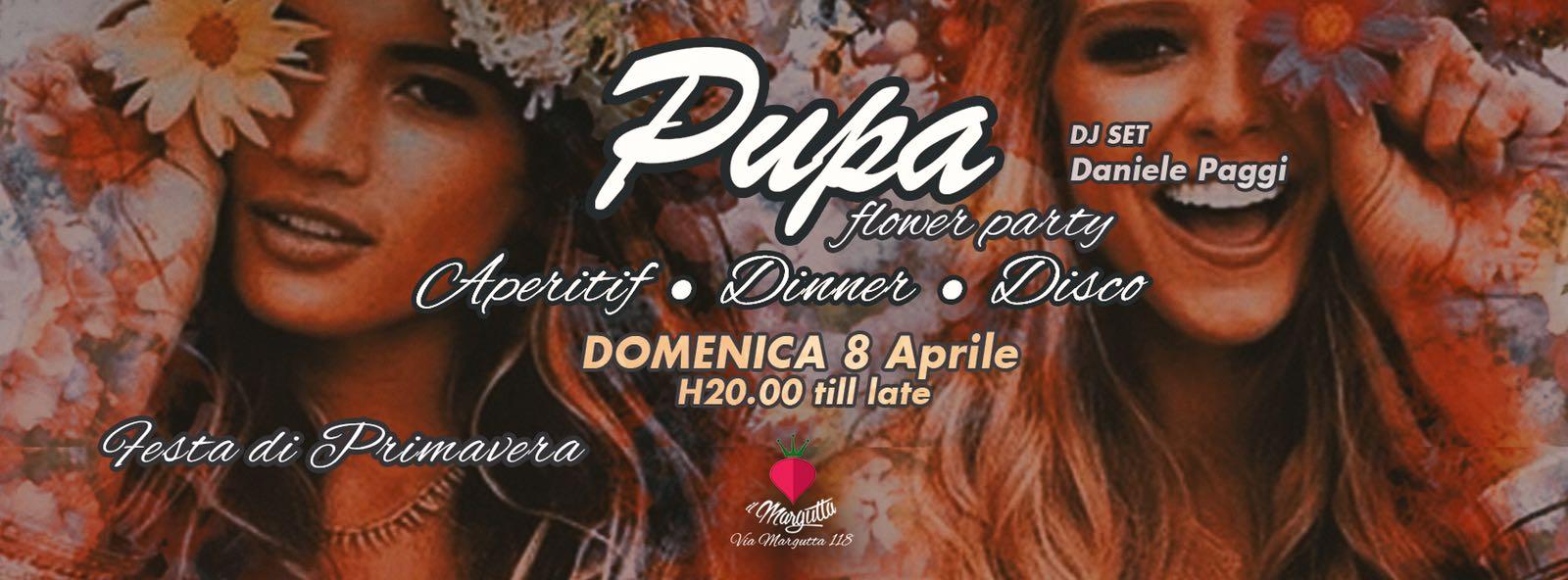 PUPA at Margutta Aperitivo Flower Party domenica 8 aprile 2018