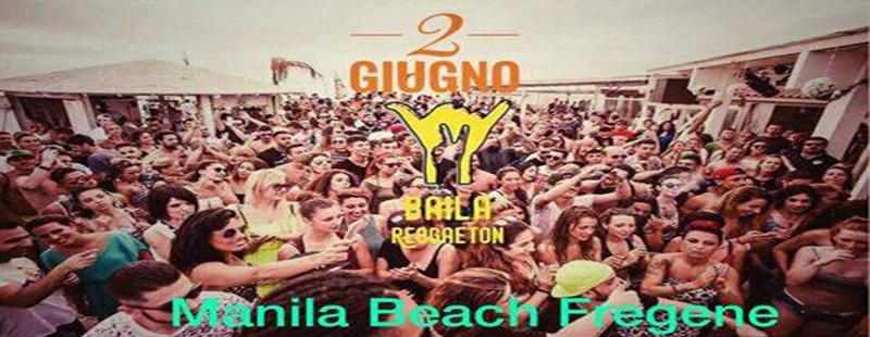 Baila Reggaeton Manila beach party Fregene sabato 2 giugno 2018