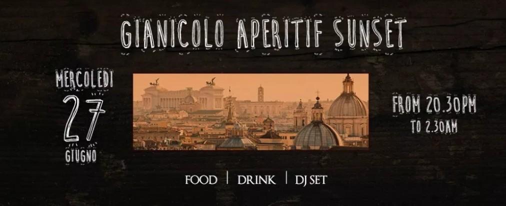 Aperitivo in Terrazza Roma | Gianicolo mercoledi 27 giugno 2018