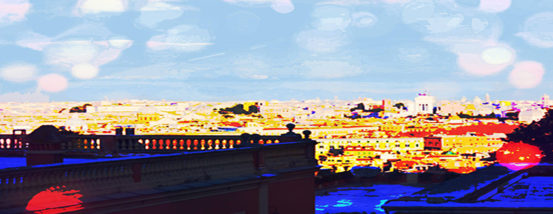 Aperitivo in terrazza a Roma