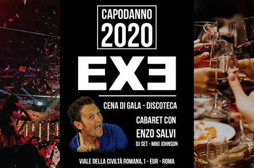 capodanno 2020 exe roma cena discoteca eur