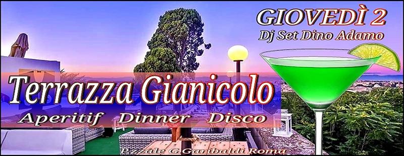 Aperitivo in Terrazza Gianicolo Roma giovedi 2 agosto 2018