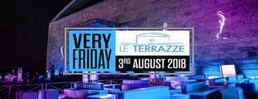 Discoteca Le Terrazze Roma Eur venerdi 3 agosto 2018