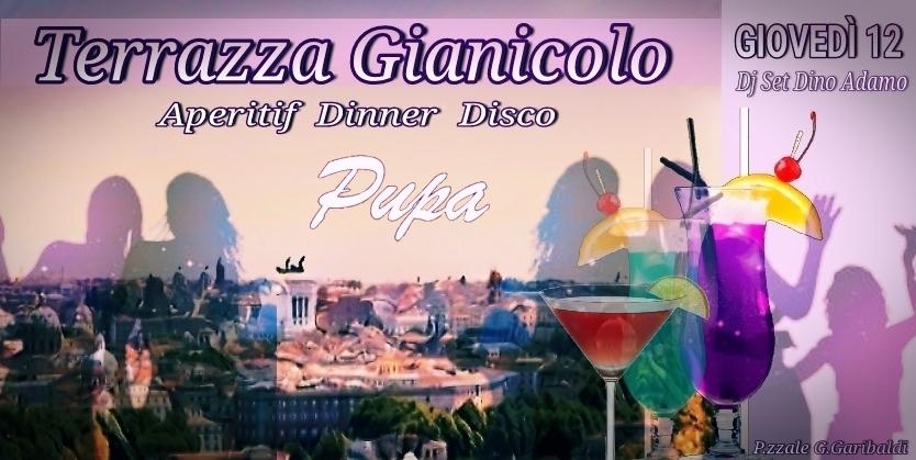 Giovedì 12 luglio 2018 Terrazza Gianicolo aperitivo al tramonto