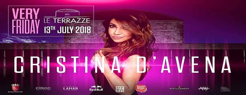 Le Terrazze discoteca Roma venerdì 13 luglio 2018