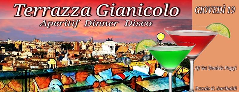 Terrazza Gianicolo Aperitivo Disco giovedi 19 luglio 2018 1