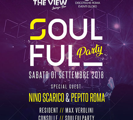Soulful Party Nino Scarico The View – Vista panoramica Roma