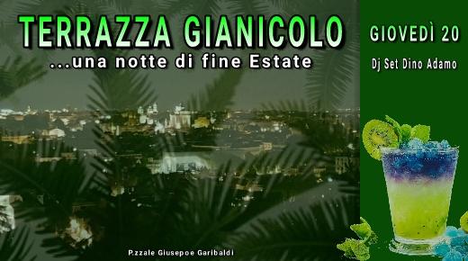Terrazza Gianicolo discoteca aperitivo Giovedi 20 settembre 2018