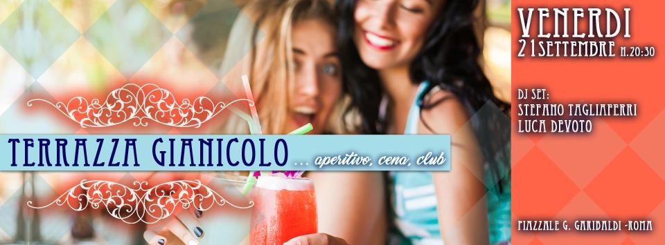 Terrazza Gianicolo serata vintage | Ape e Disco Venerdi 21 settembre 2018