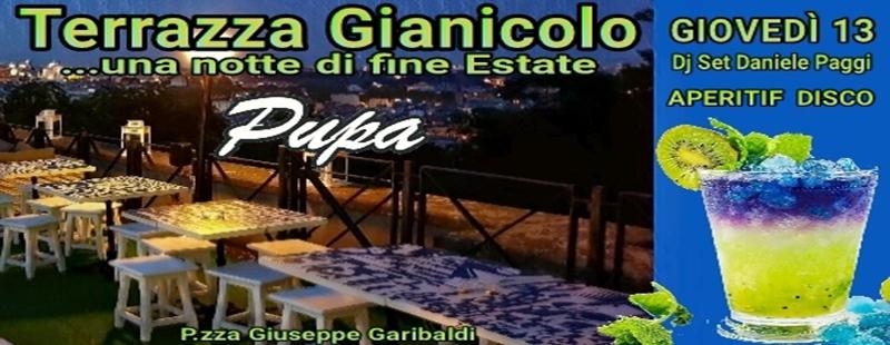 Aperitivo Gianicolo Roma dj set giovedi 13 settembre 2018