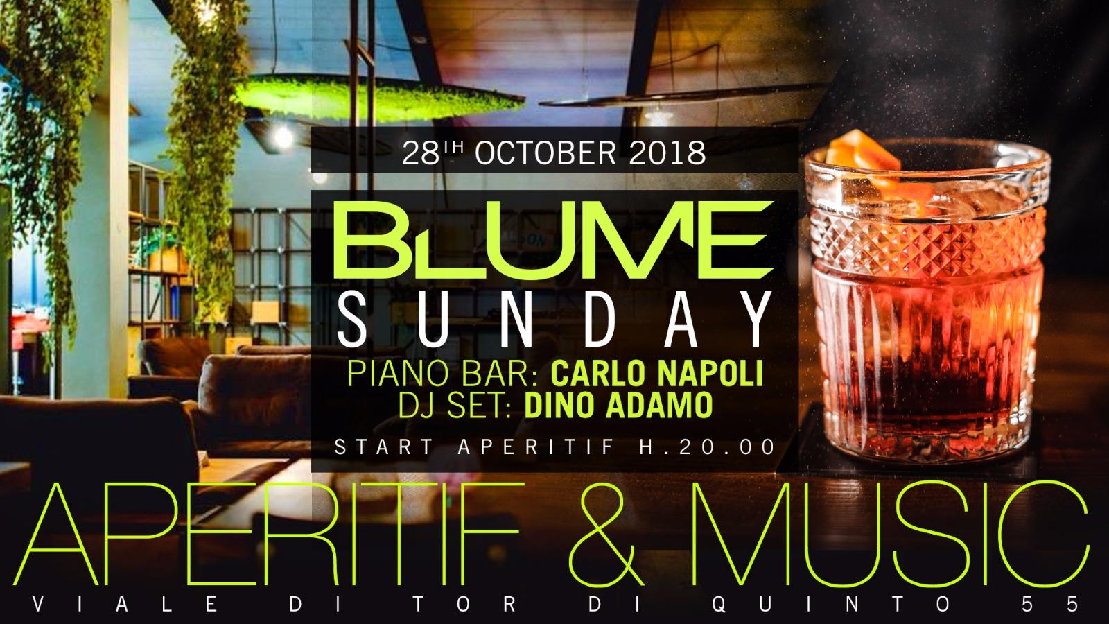 BLUME Aperitivo Ponte Milvio domenica 28 ottobre 2018