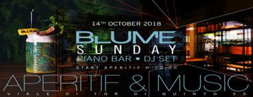 Blume Roma Aperitivo Ponte Milvio domenica 14 ottobre 2018