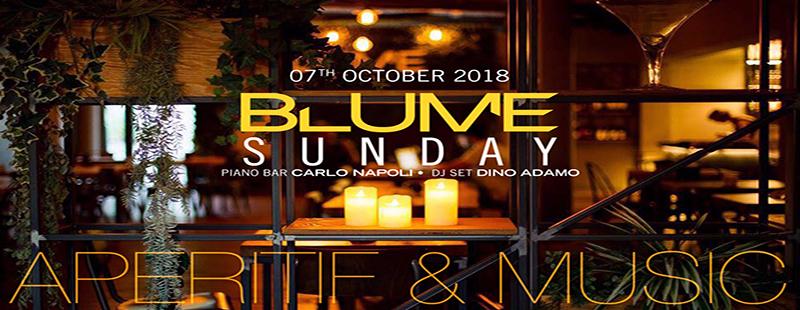 Blume Lounge Roma: Aperitivo domenica 7 ottobre 2018