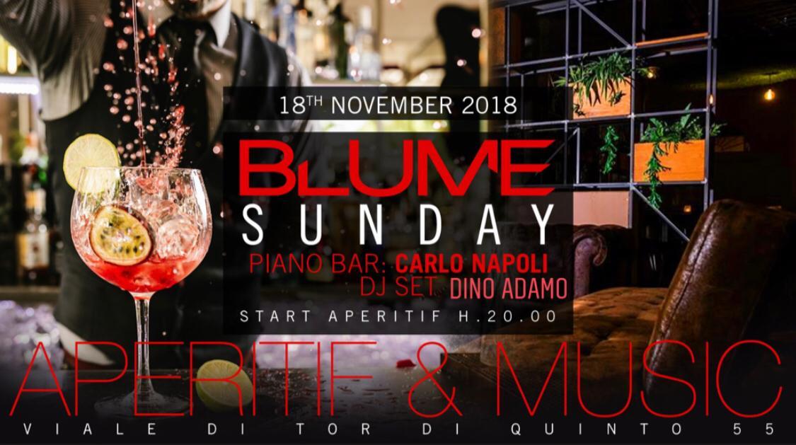 Aperitivo Blume Roma Djset domenica 18 novembre 2018