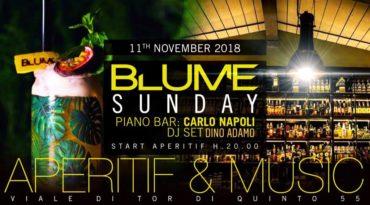 BLUME Ponte Milvio Roma Aperitivo domenica 11 novembre 2018