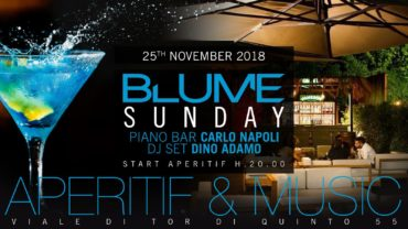 Blume Aperitivo dj set 25 novembre 2018