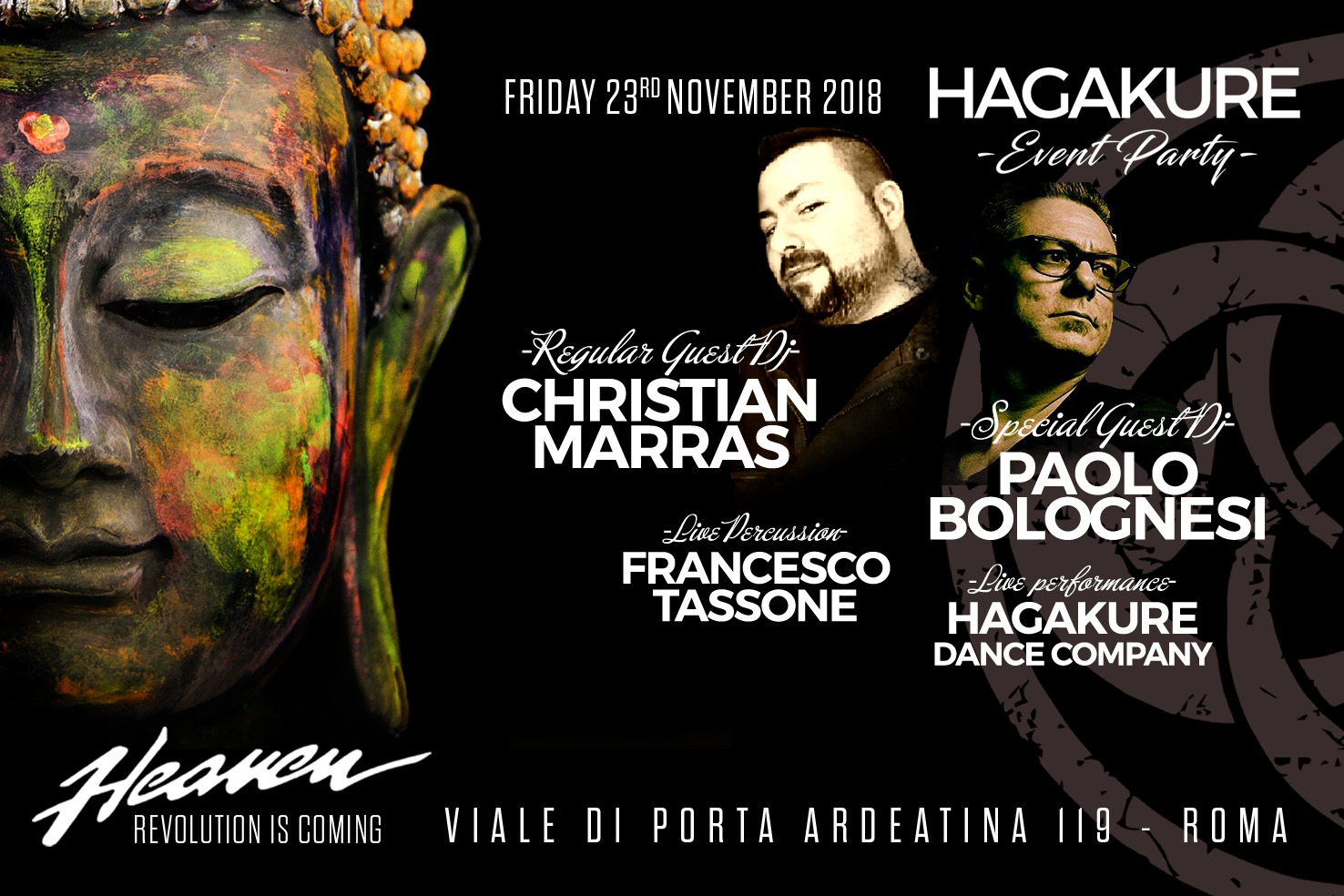 Heaven Discoteca Roma 24 novembre 2018