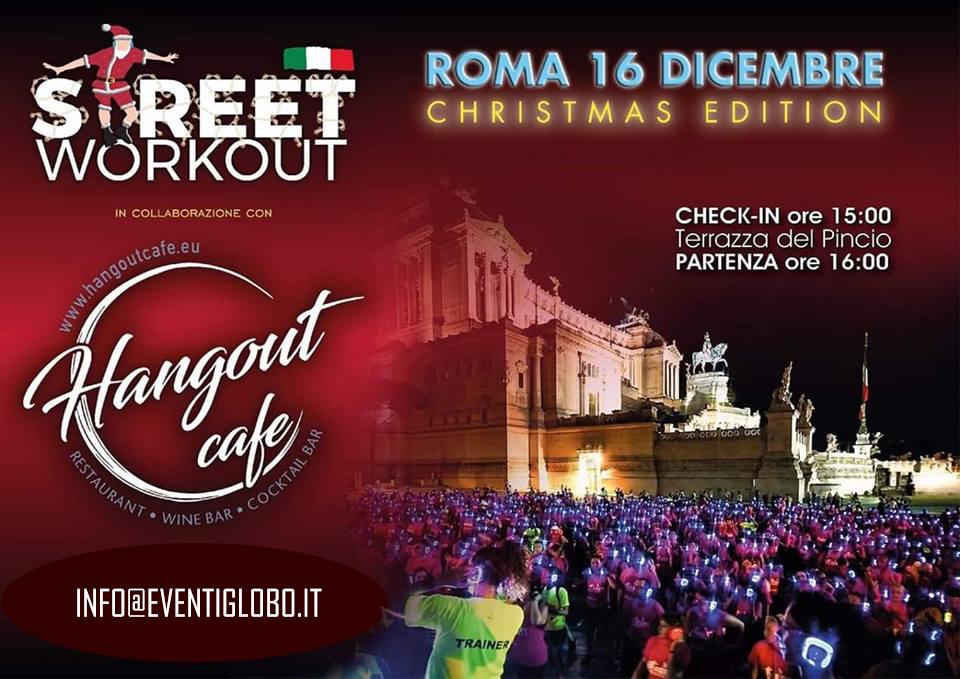 Street Workout Roma 16 Dicembre 2018 Christmas in Green | Prenota la tua 🎧