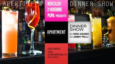 The Apartment Aperitivo San Lorenzo mercoledì 21 novembre 2018
