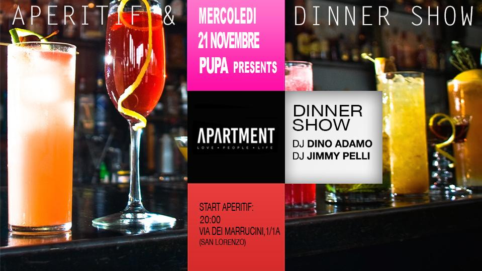 The Apartment Aperitivo San Lorenzo mercoledì 21 novembre 2018